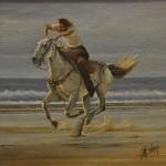Olio su tela fondo in sabbia - 68,5 x 79 cm