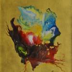 Olio su tela + f. oro - 57 x 71 cm