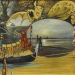 Olio su tavola + inc. f. oro - 30 x 40 cm