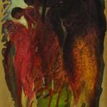 Olio + f.oro su faesite - 24 x 34 cm